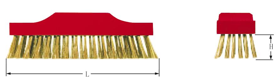 Scrubbing Broom, Round Wire Brass- non-sparking / low-sparking