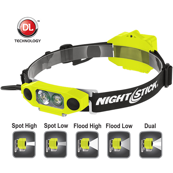 XPP-5462GX X-Series Intrinsically Safe Low-Profile Dual-Light™ Headlamp - Green | 310 lm | green