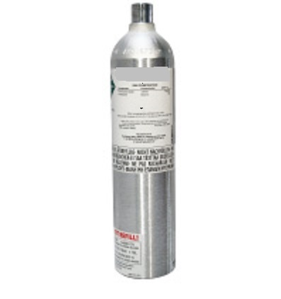 Gas bottle with 4 gas test gas mixture