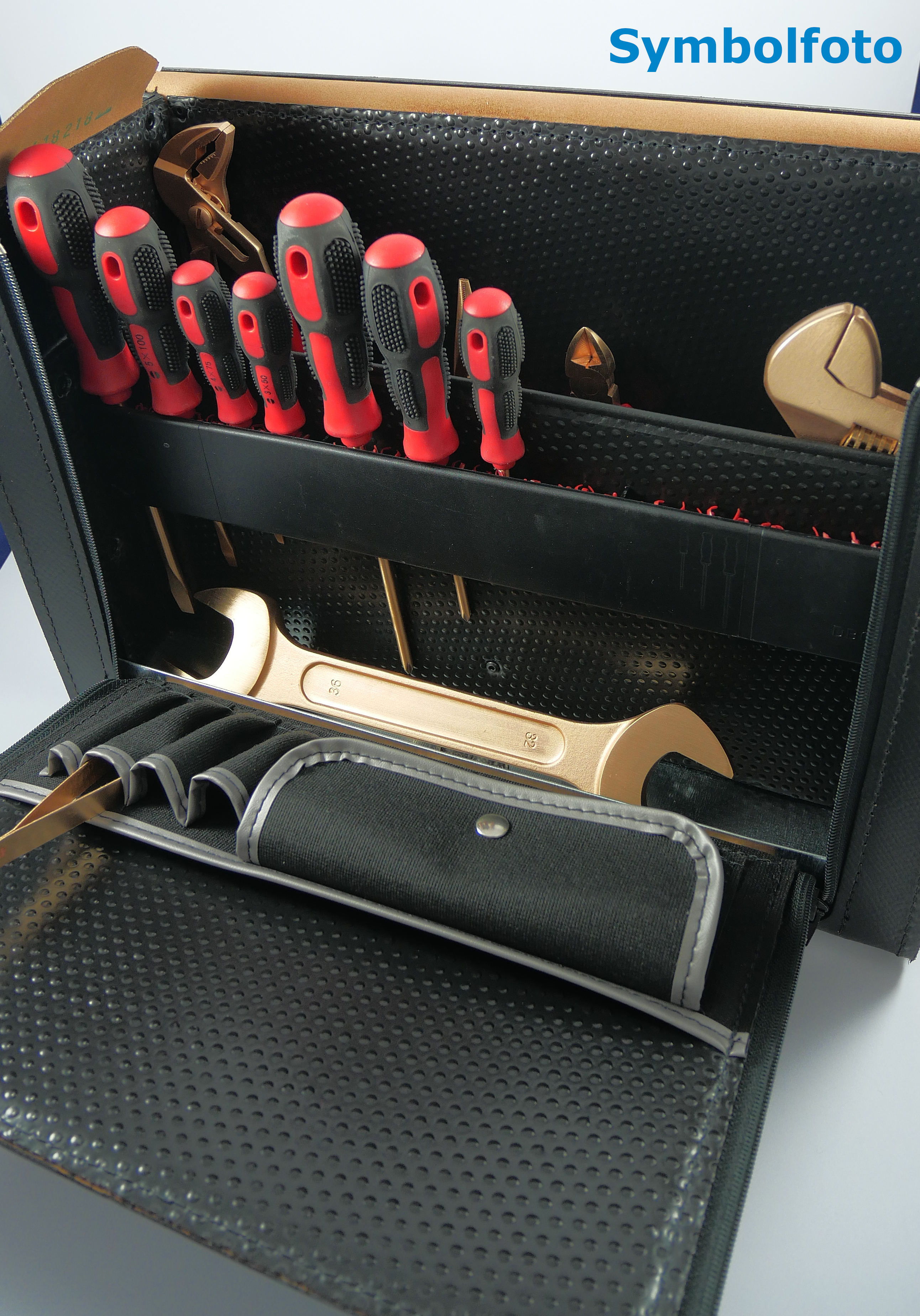 Tool case spark-free tool 56 pcs- non-sparking / low-sparking