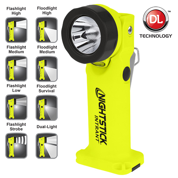 XPP-5566GX Intrinsically Safe Dual-Light™ Angle Light INTRANT ,  200 Lumen ,  yellow