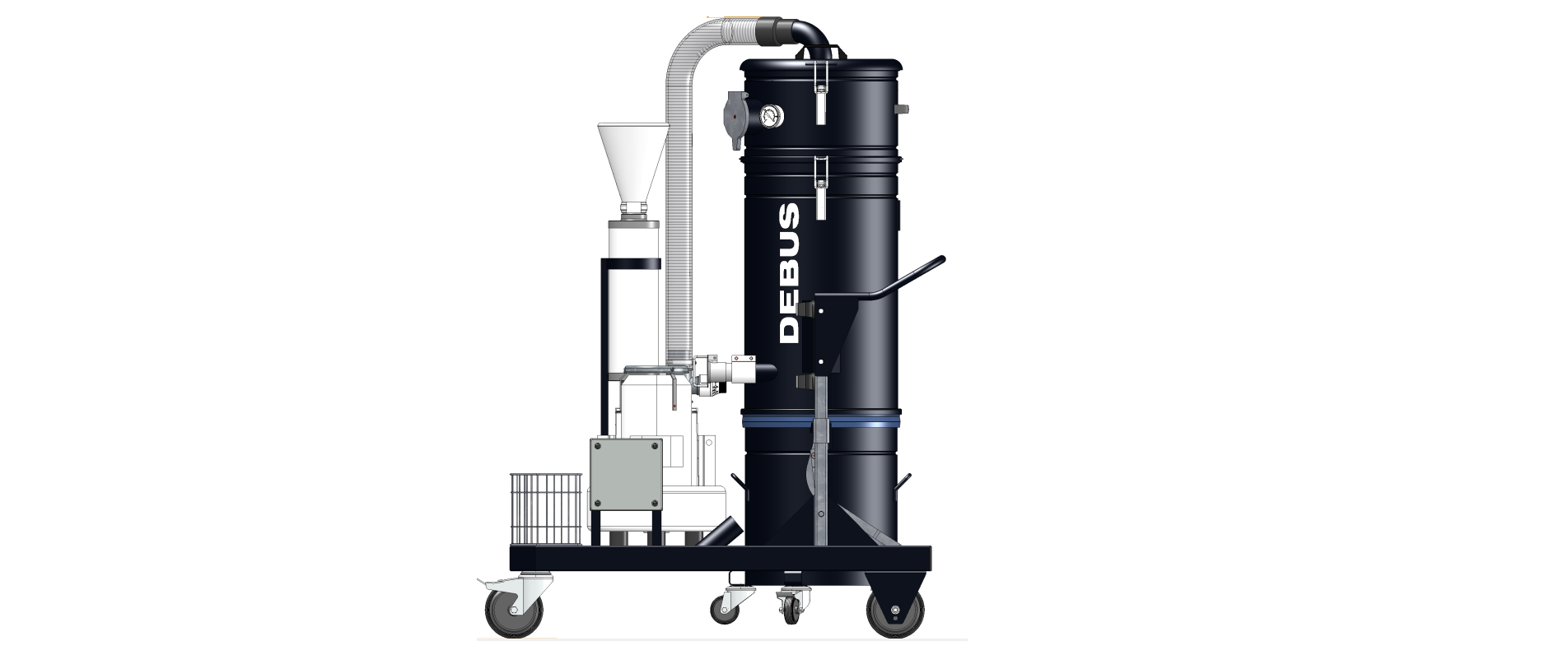 Three-phase current ATEX dry vacuum cleaner BLACK VAC LONGOPAC