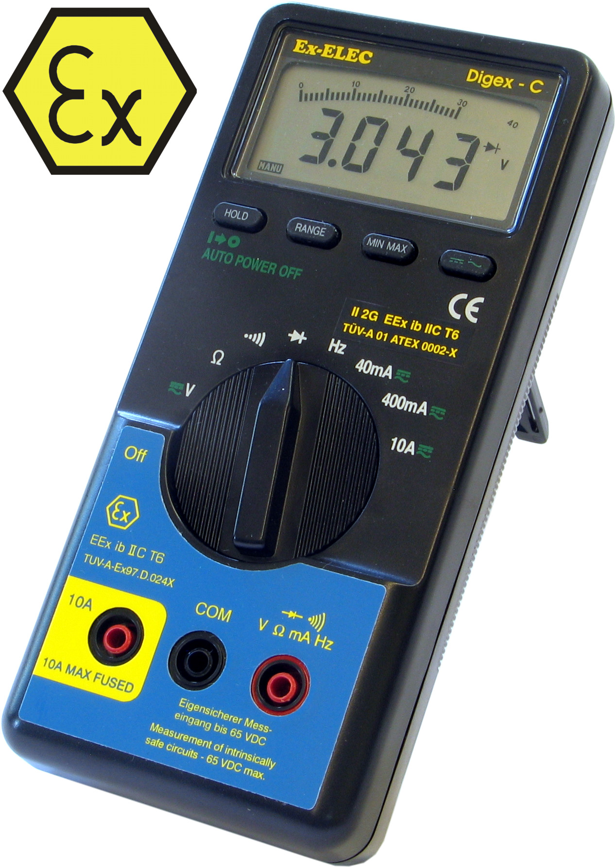 DIGEX-C EEx ib – Digitalmultimeter