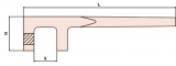Valve handle 40 mm
