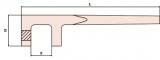 Valve handle 48 mm