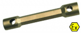 6-Kant-Doppelsteckschlüssel funkenfrei, 36 x 41 mm