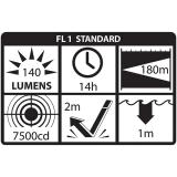 XPP-5420G Gelbe Sicherheits-LED-Taschenlampe ,  140 Lumen