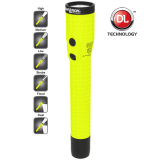 XPR-5542GMX Green Safety Rated LED Flashlight ,  400 Lumen ,  Dual Light ,  Rechargeable
