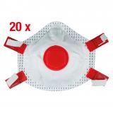 Fine dust filter mask FFP3 with valve