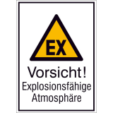 Combi warning sign Warning of explosive atmosphere