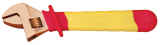 Adjustable spanner, non-sparking / spark-free, insulated, 24 mm