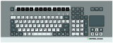 Keyboard and mouse for GXP operator station